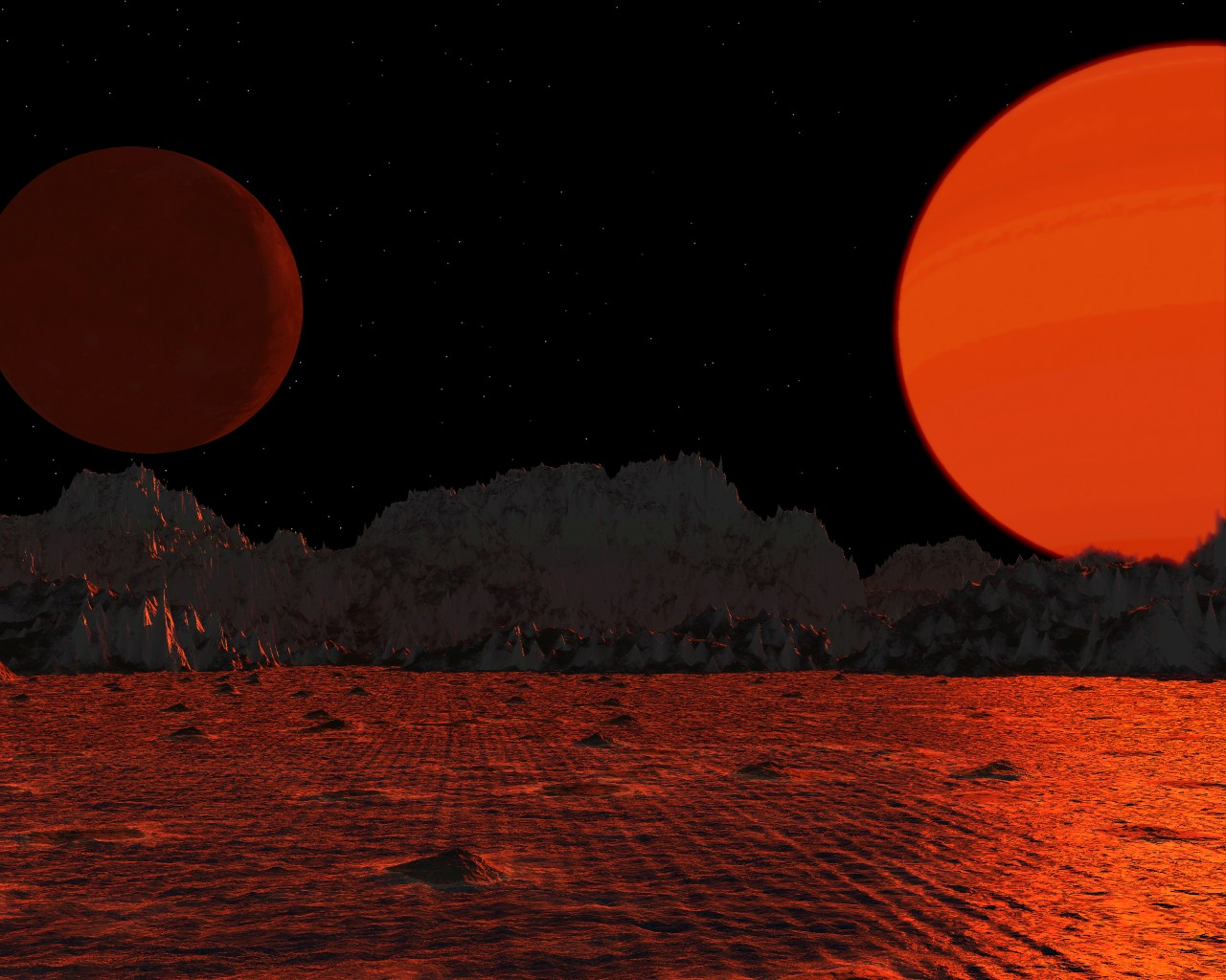 Giant Red Moon (page 3) - Pics about space